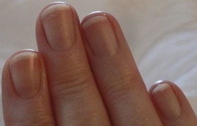Soak nails for 10 mins in 2 egg yolks and 1 Tbs olive oil mixed twice a week for stronger nails!