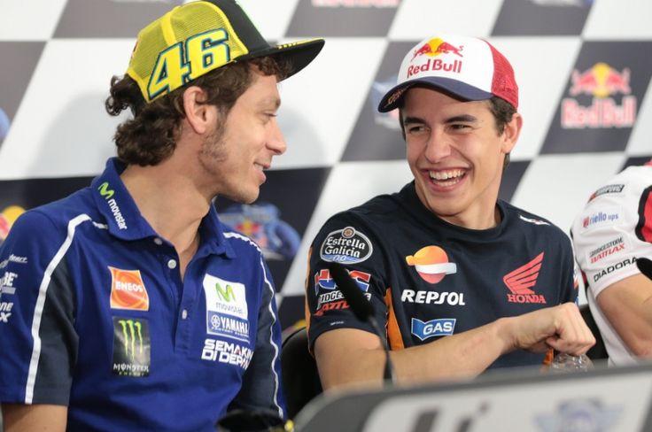 Rossi and Marquez, Argentinian MotoGP 2014