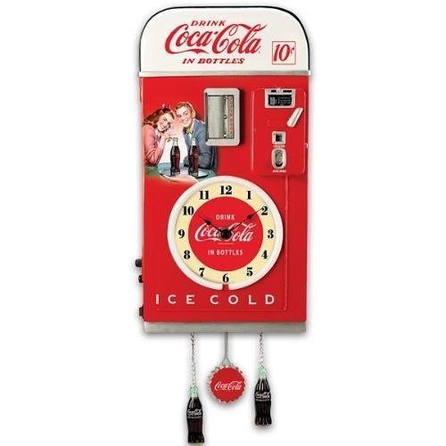 Wall-Decor-COCA-COLA-Time-Refreshment-Vending-Machine-Wall-Clock-Retro-Vintage