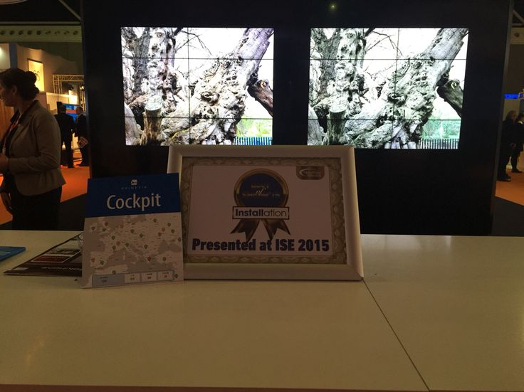 ISE 2015: 24K interactive video wall featuring Cedric art and powered by SpinetiX #spinetix