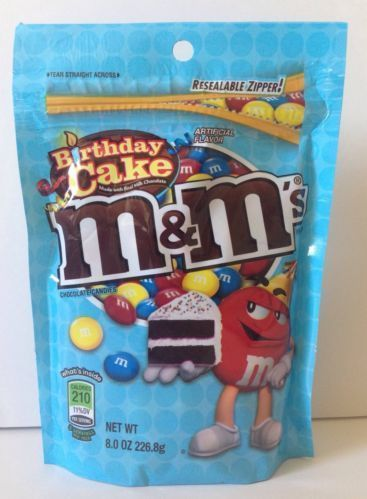 Birthday Cake M&M's American Candy Sweet Chocolate m&ms Large 8oz Pack
