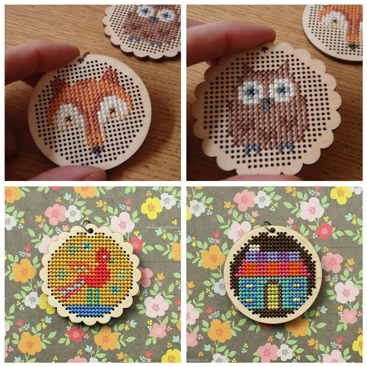 Laura Makes Things: More Cross Stitch Pendant Love