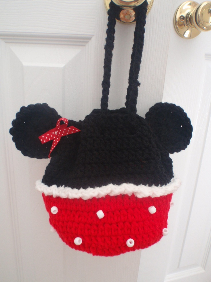 Free Crochet Mickey Mouse Purse Pattern : crochet minnie mouse purse Crochet Pinterest Purse ...