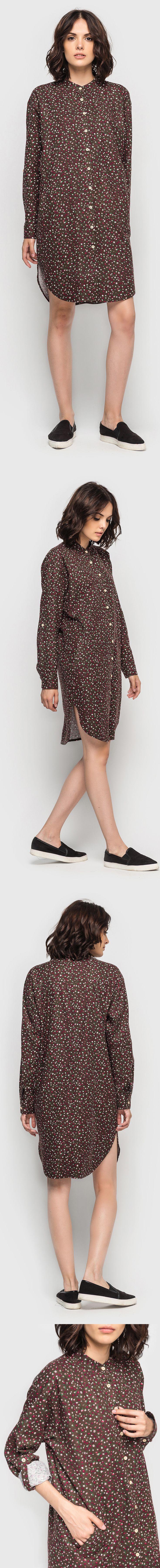 Платье-рубашка кокон фланель мелкоцвет шоколадное 990 грн. Близятся холода, и Вам хочется обновить гардероб? Отличный выбор - демисезонное платье-рубашка с рукавами-трансформерами и кокетливыми разрезами по бокам. Классический прямой крой новинки, длиной чуть выше колена, идеально сидит на фигуре и подчеркивает ее достоинства. Мелкий цветочный принт платья-кокона позволит создать яркий образ, а приятная к телу фланель гарантирует максимальный комфорт. #VOVK