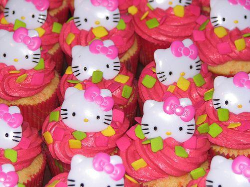 Carrot-Orange Hello Kitty Cupcakes by sugarcrushmiami, via Flickr
