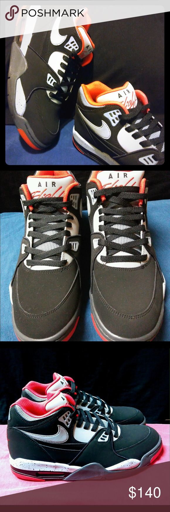 "Nike Air Flight 89 Black Grey New Nike Air Flight 89 Black Grey Red J pack ""Cement"" 100% authentic. Very rare and a sought after colorway. A Bonafide Classic !! Never been worn. These are flawless. Size 10.5 Be glad to  post more pics to authenticate. Nike Shoes Athletic Shoes"