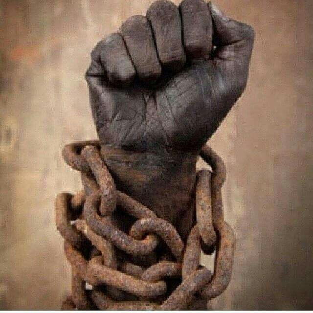 Breaking chains of slavery