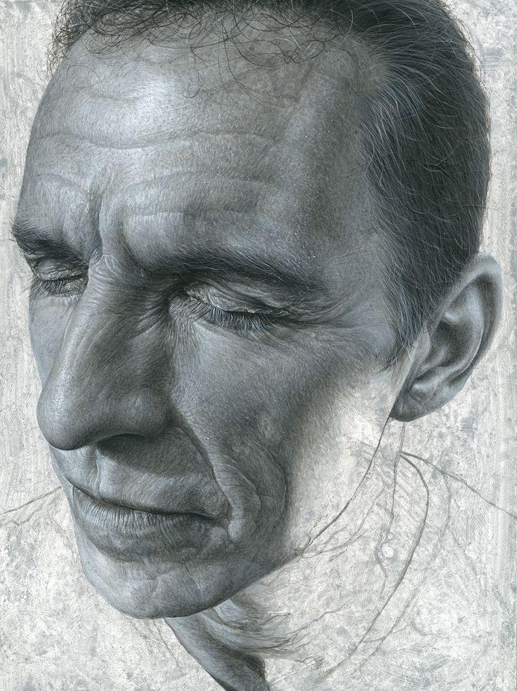 Artist: Steve Caldwell {male head realism man face portrait drawing #loveart} stevecaldwell.co.uk