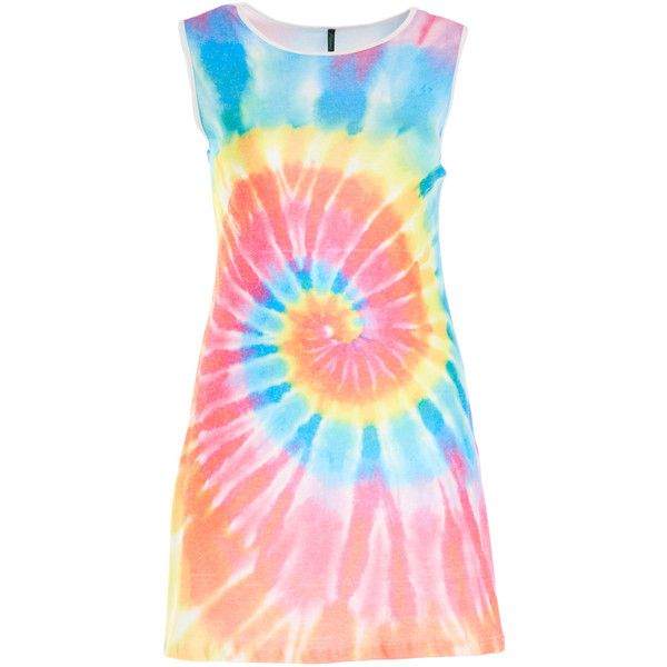 Poliana Plus Blue & Pink Tie-Dye Spiral T-Shirt Dress ($22) ❤ liked on Polyvore featuring dresses, plus size, blue dress, women plus size dresses, tie dye t shirt dress, long dresses and pink dress