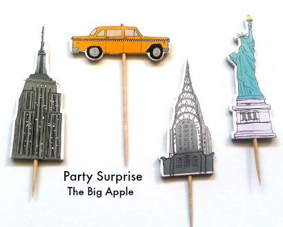 12 toppers The Big Apple - The City - New York, New York - Manhattan - However you call it, theres no place like it! NYC cupcake toppers celebrate
