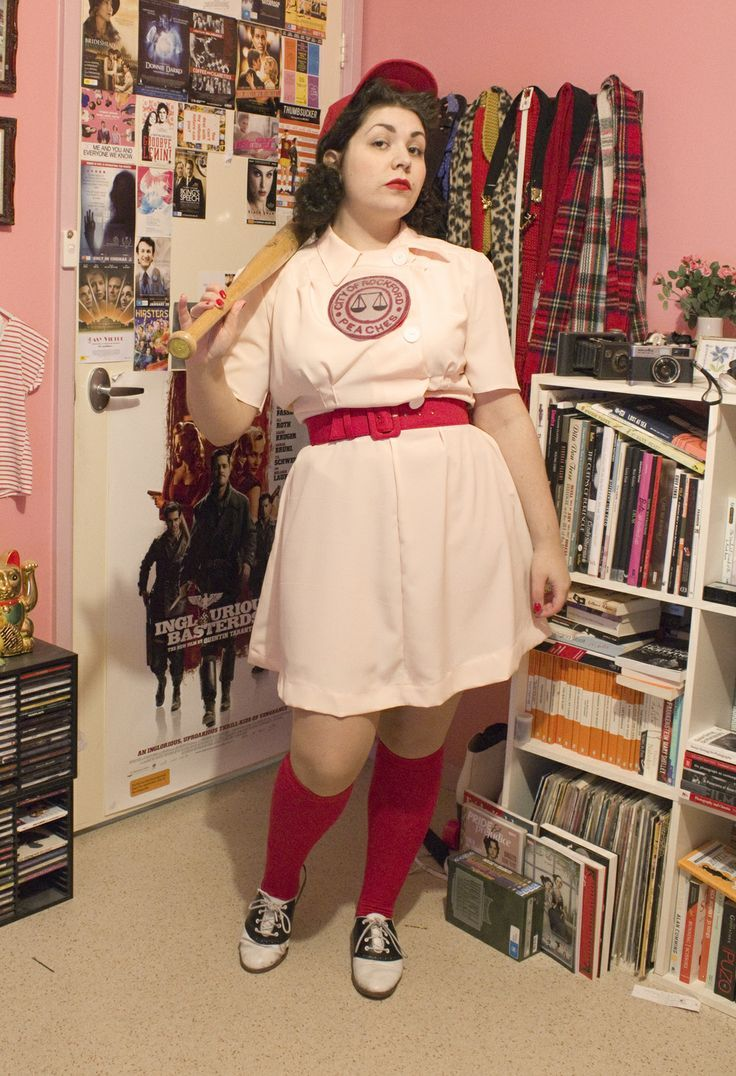 How to make your own Rockford Peach costume!  I love this!