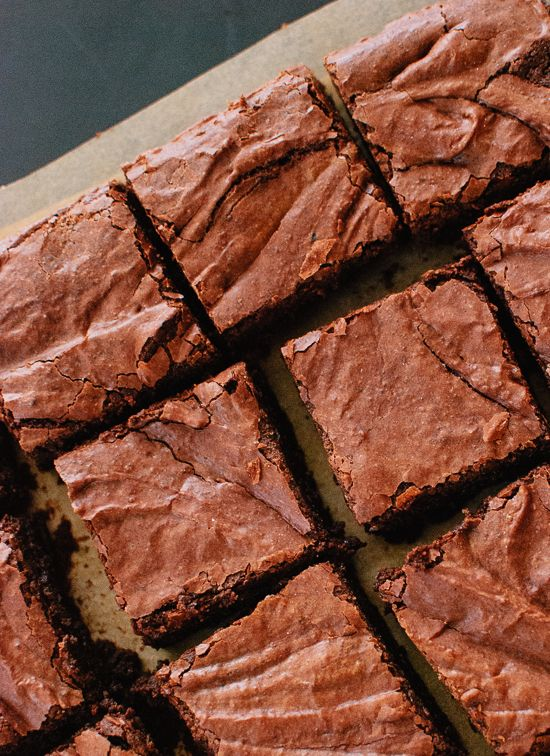 The best homemade brownies ever. - recipe at cookieandkate.com