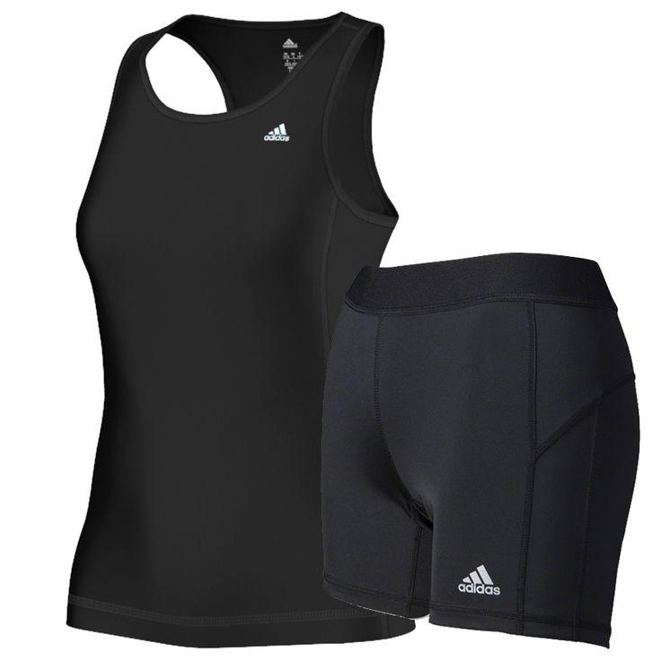 #Adidas set 2-delig Clima Ess. black dames bij Hardloopaanbiedingen.nl