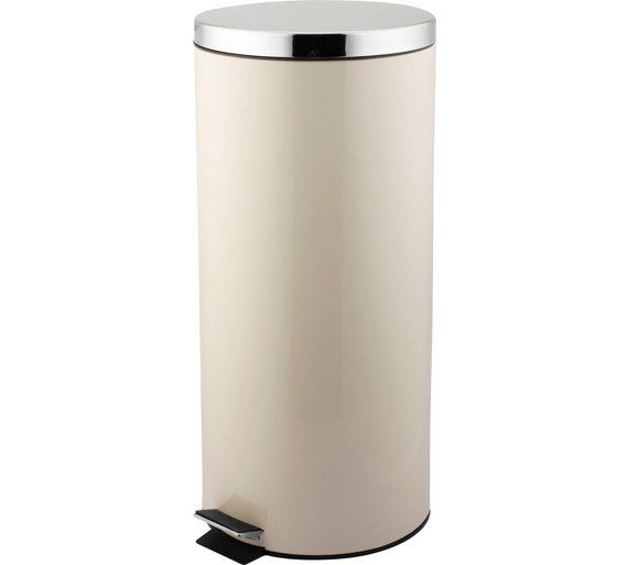 Buy HOME 30 Litre Kitchen Pedal Bin - Cream at Argos.co.uk - Your Online Shop for Kitchen bins, Kitchenware, Cooking, dining and kitchen equipment, Home and garden.