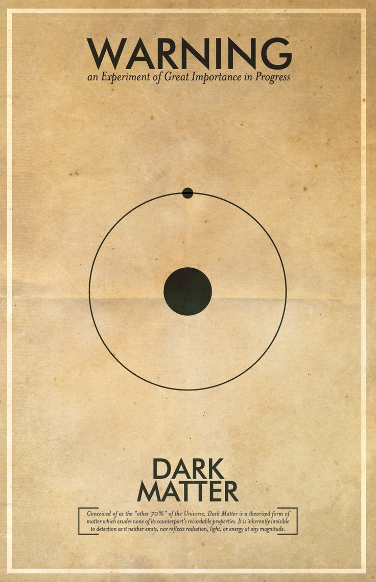 Fringe Science Warning Posters - Dark Matter Inspired Vintage Iconography 11x17 Print. $18.00, via Etsy.