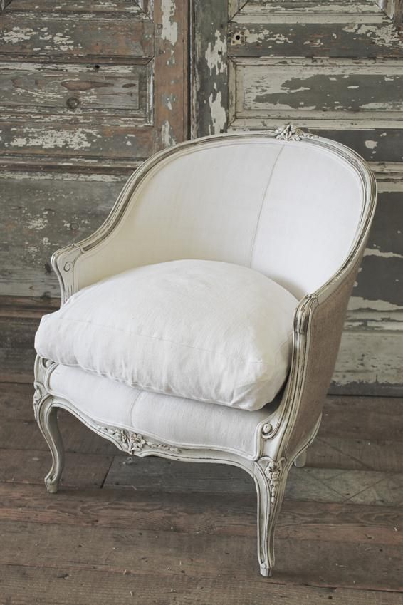 Antique French Bergere Chair From Full Bloom Cottage