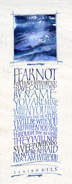 "Isaiah - Calligraphy ""Fear not..."""