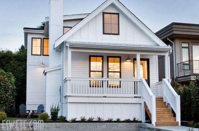 70 Desain Rumah Kayu Minimalis Sederhana Dan Klasik Desainrumahnya Com House Exterior Modern Cottage House Paint Exterior
