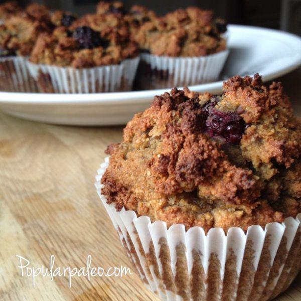 Blackberry Muffins | popularpaleo.com