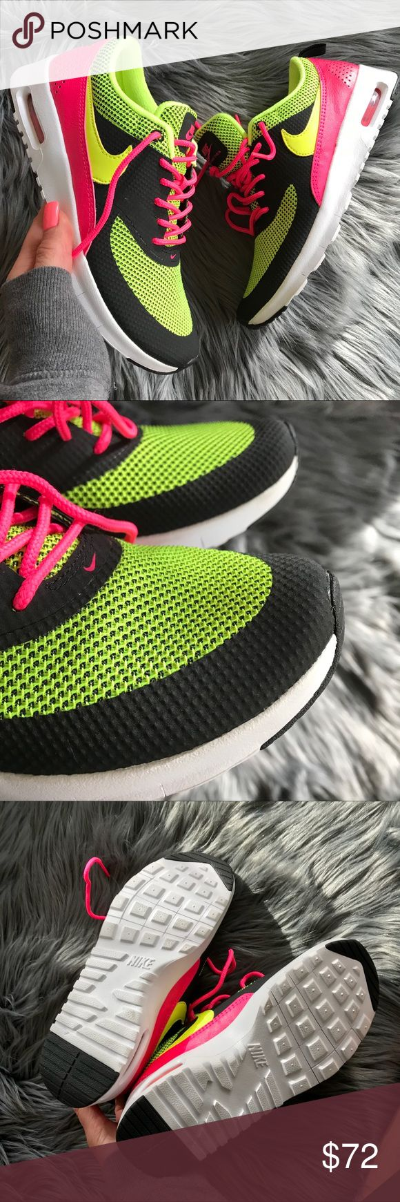 NEW 💥 NIKE AIR MAX THEA FITS WOMENS SZ 5 ⚡️ Brand new & never worn. NIKE AIR MAX THEA. GIMMIE ALLL THE NEON COLORS! 😍  ORDER YOUR WOMANS SHOE SIZE  Size 3.5y fits size 5 woman according to Nikes size chart.   Ships same or next day from my smoke free home.  Bundle items to save!  Reasonable offers will be considered through the offer button only 🔥  100% authentic & direct from Nike. Nike Shoes Athletic Shoes