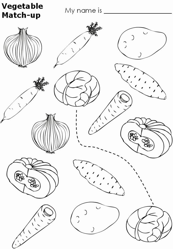 Coloring Vegetables for Kindergarten New Alphabet Coloring