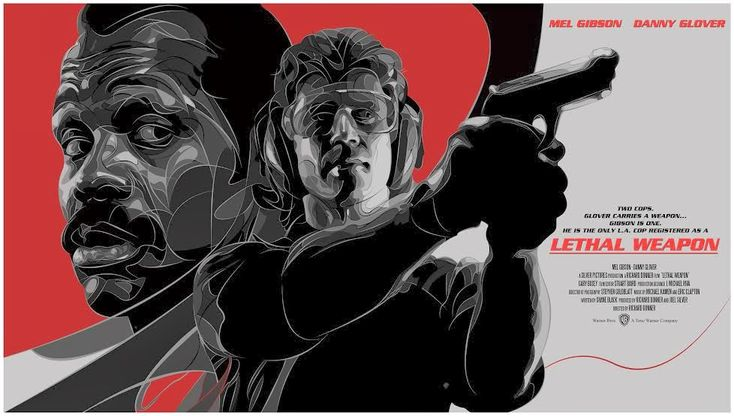 Cool Poster Art for LETHAL WEAPON Featuring Riggs and Murtaugh