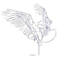 Mensch mit Flügeln, die Posen zeichnen – Google-Suche