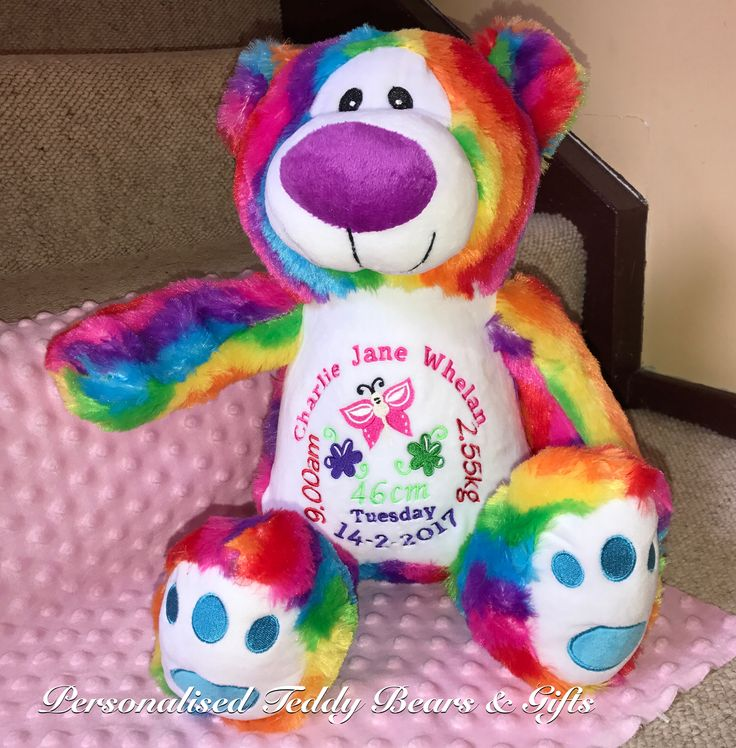 Just like a rainbow this gorgeous guy will surprise you with his many colours. Hope Rainbow Bear is just that, full of hope and love. http://teddybearsandgifts.com.au/personalised-snugabudz-rainbow-hope-bear-birth-design/