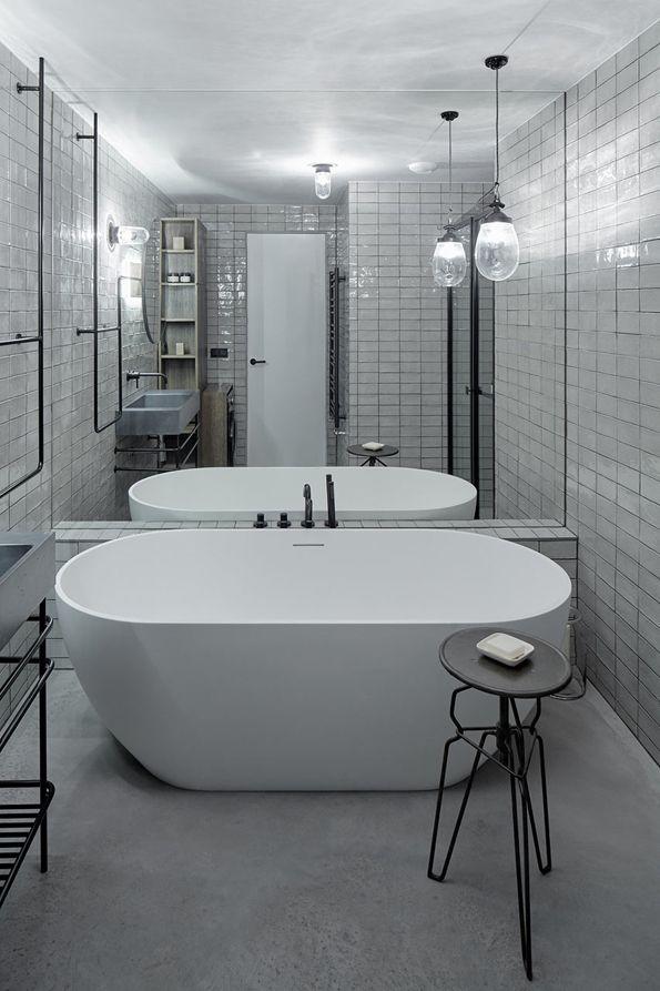 7 best Bañeras images on Pinterest Backlit mirror, Bath hotels - badezimmer 7m2
