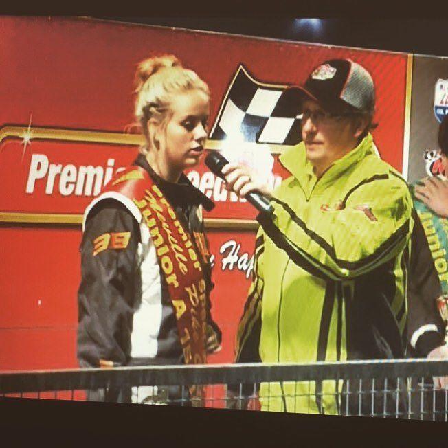 Loves a chat  #podiumfinish #second #Victoria #premierspeedway #Warnambool  #speedwaytrips #racing #speedway #goodoldchat by maddi_maac