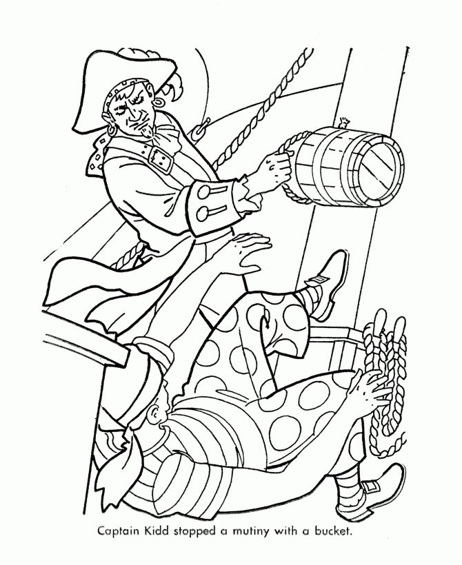 famous pirates coloring pages - photo#8