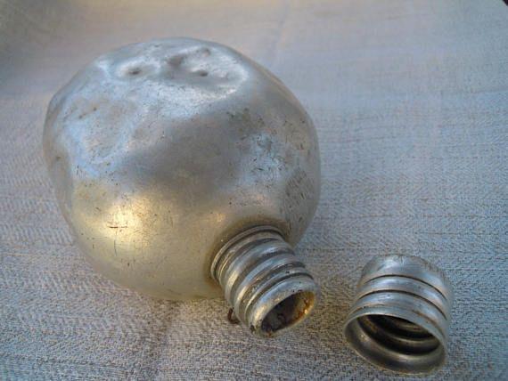 Vintage military metal flask. Aluminium. 1950s.