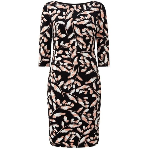 Precis Petite Sasha Print Wrap Dress (€44) ❤ liked on Polyvore featuring dresses, petite, sleeve maxi dress, long-sleeve shift dresses, floral wrap dress, shift dresses and 3/4 sleeve dresses