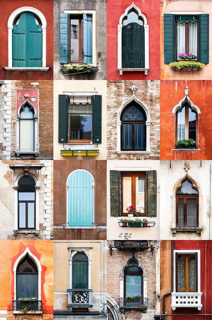 Ventanas, Venecia, Italia