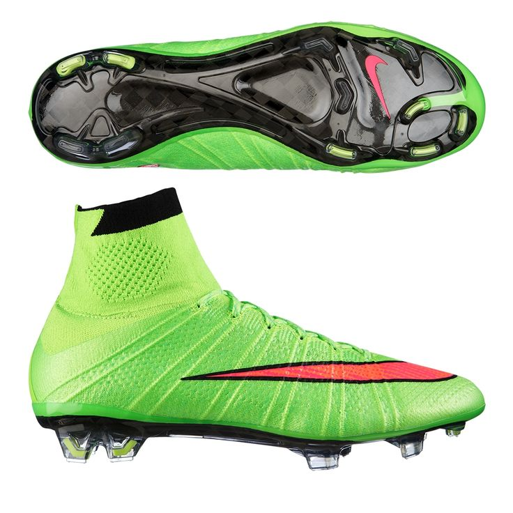 Nike Mercurial SuperFly IV Soccer Cleats (Electric Green/Volt/Black/Hyper Punch). Get your new pair of soccer boots at SoccerCorner.com!