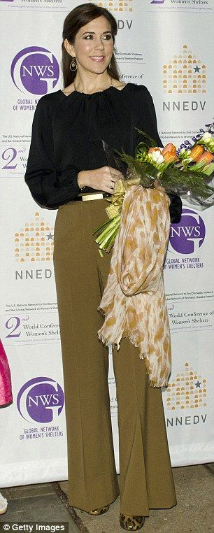 Pants perfect: The royal's defined sense of style, as well as her affinity for sharp tailoring, (pictured in 2005, left, and , right) keeps her ahead of the style stakes