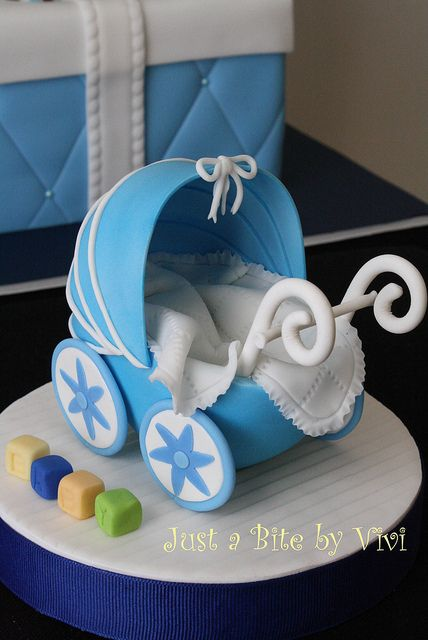 gum paste stroller   toppers for cakes - a gallery on Flickr