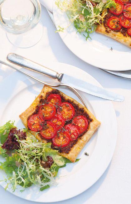 Recept voor snelle knapperige tomatentaartjes