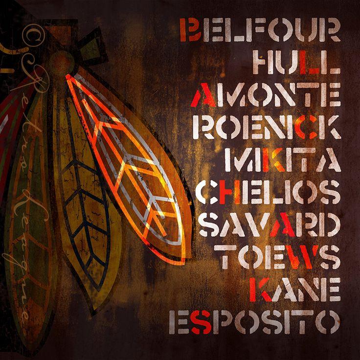 Chicago Blackhawks Fan Favorite Greatest Players by RetroLeague, $24.00