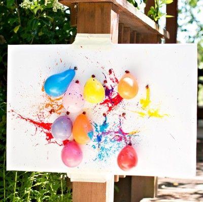 ballon de peinture pour faire un tableau coloriages tableaux pour petits et grands. Black Bedroom Furniture Sets. Home Design Ideas