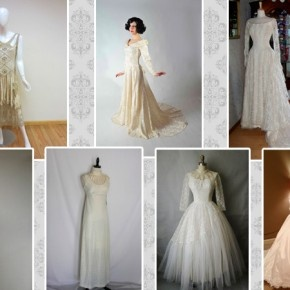 Wedding dress styles through the decades party