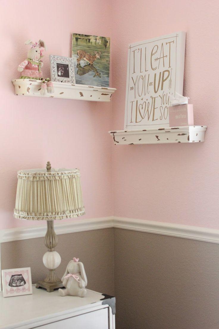 Pink and tan nursery decor