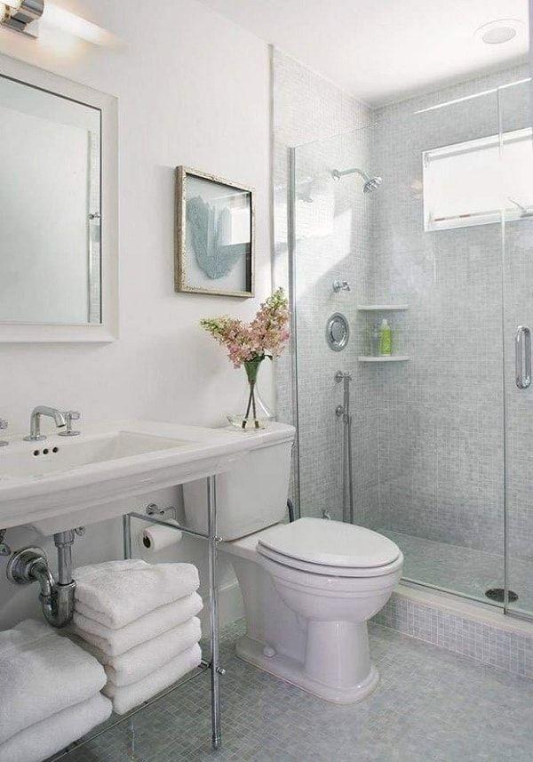 صور تصاميم ديكورات حمامات مودرن Small Bathroom Tiles Tiny House Bathroom Bathroom Interior Design