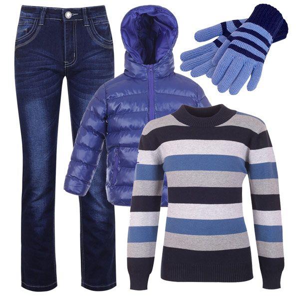 Скинии, приталенный свитер и дутая куртка - модный лук за пару минут.