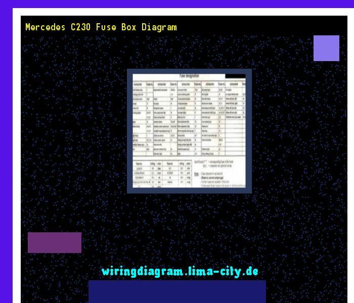 Mercedes C230 Fuse Box Diagram. Wiring Diagram 185826