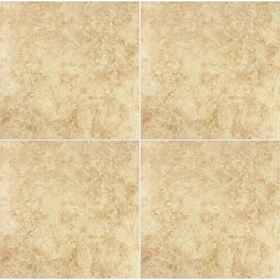 Beige Ceramic Floor And Wall Tile (15 Sq. Ft. / Case)