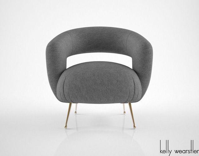 kelly wearstler laurel lounge chair 3d model