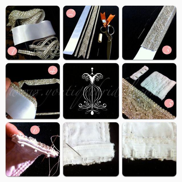 DIY Tutorial : Custom Rhinestone Bridal Sash | Bridal sash