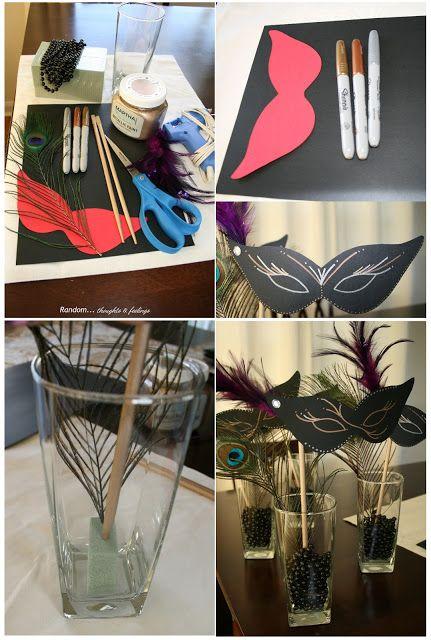 DIY Masquerade Party Decor for a Sweet 16 Masquerade Party #Sweet16PartyIdeas #Sweet16