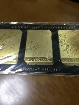 Gundam 20th Gold Telephone Card 3-Pack Set limited new #gundam #anime #game